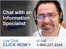 Chat with a live specialist now